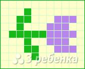 Схема фенечки прямым плетением 13099