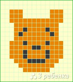 Схема фенечки прямым плетением 12950