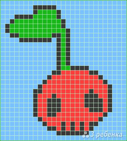Схема фенечки прямым плетением 13160