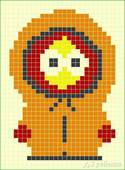 Схема фенечки прямым плетением 12972
