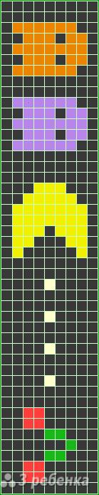 Схема фенечки прямым плетением 13165