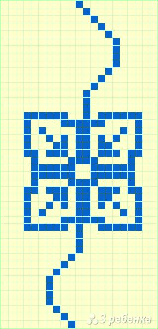 Схема фенечки прямым плетением 13089