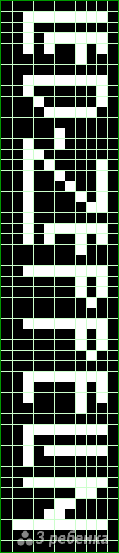 Схема фенечки прямым плетением 13109