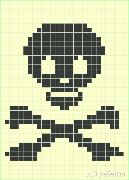 Схема фенечки прямым плетением 12945