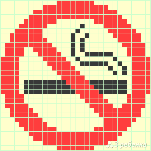 Схема фенечки прямым плетением 12996