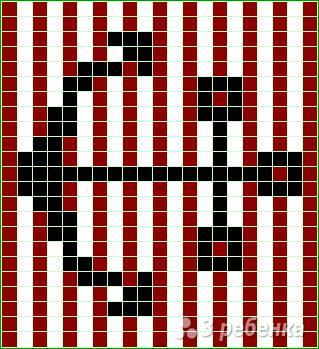 Схема фенечки прямым плетением 13078