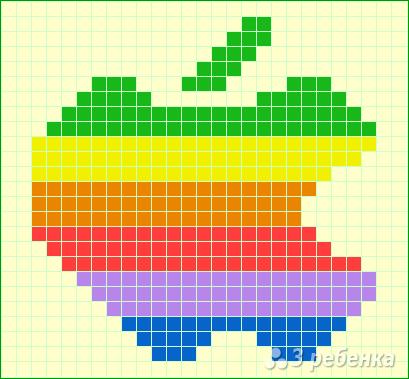 Схема фенечки прямым плетением 13041