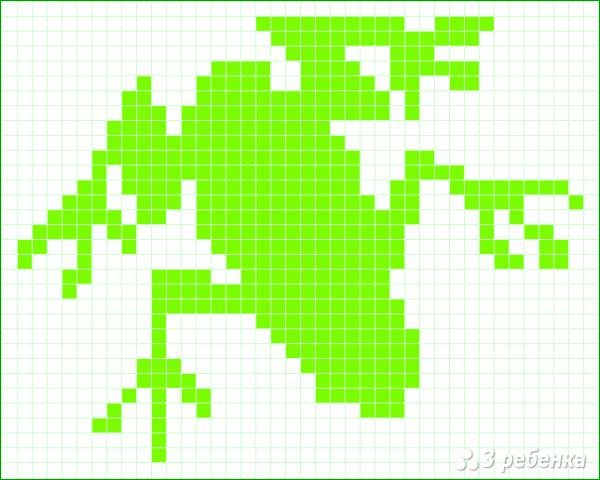 Схема фенечки прямым плетением 13059
