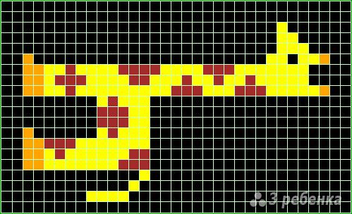 Схема фенечки прямым плетением 13104