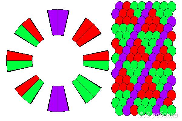 Схема фенечки кумихимо 15101