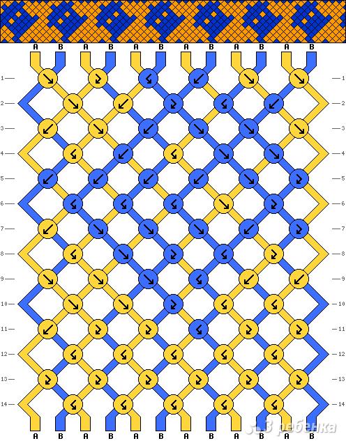Схема фенечки 13388 - 3