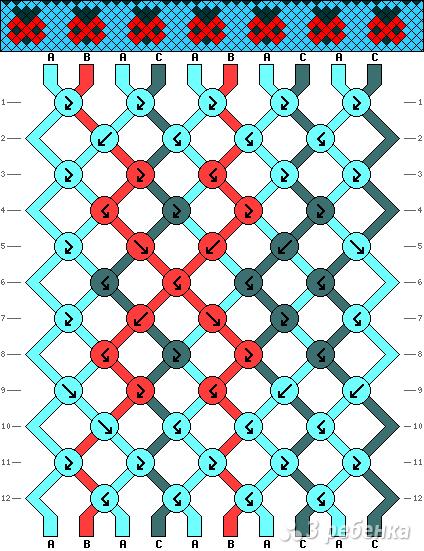 Схема фенечки 13380