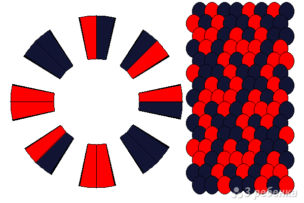 Схема фенечки кумихимо 15092