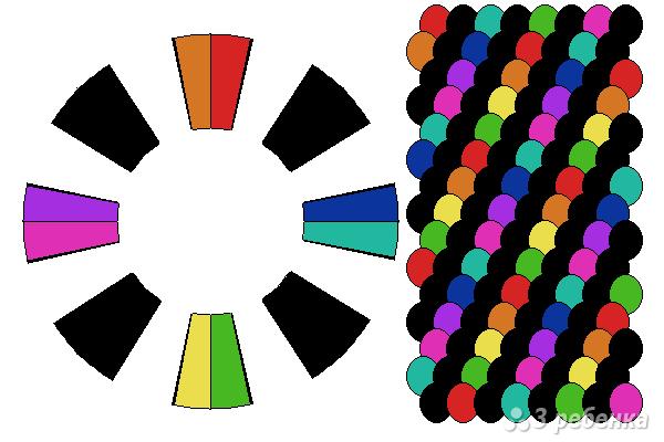 Схема фенечки кумихимо 15114