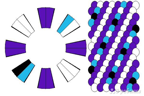 Схема фенечки кумихимо 15110