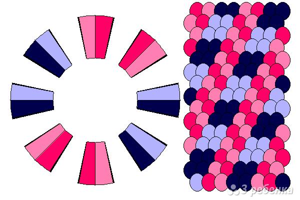 Схема фенечки кумихимо 15086