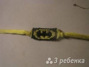 Схема фенечки прямым плетением 14200