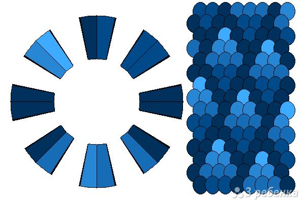 Схема фенечки кумихимо 15082