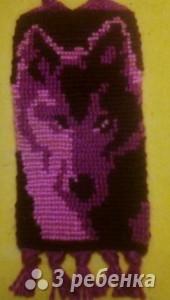Схема фенечки прямым плетением 14243