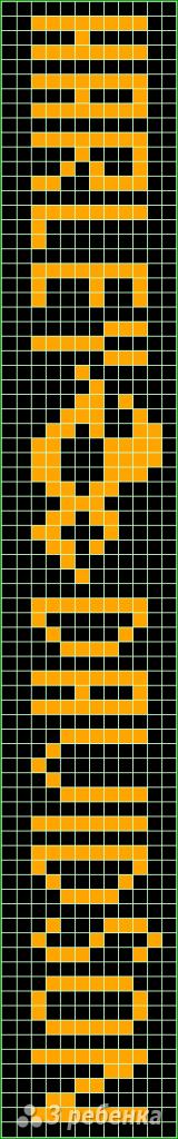 Схема фенечки прямым плетением 14226