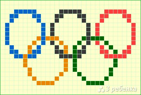 Схема фенечки прямым плетением 14238