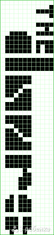 Схема фенечки прямым плетением 14217