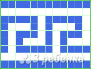 Схема фенечки прямым плетением 14260