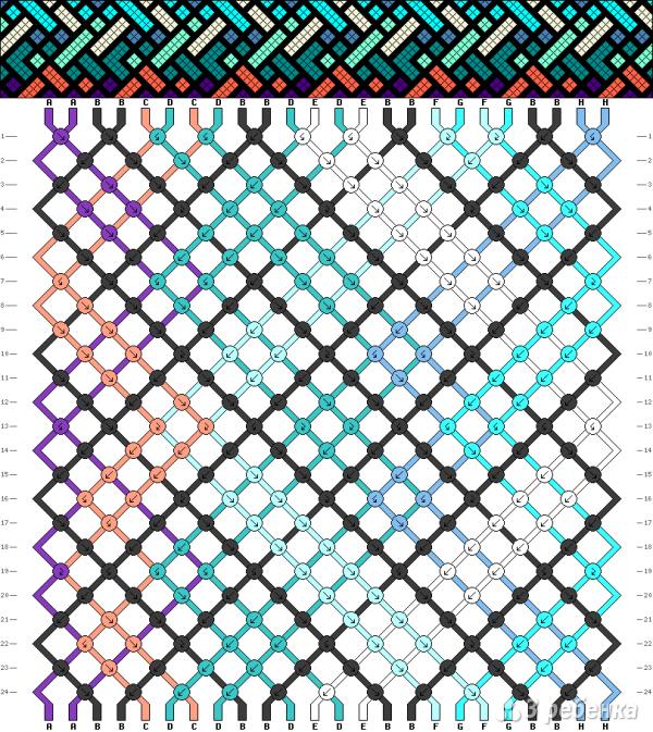 Схема фенечки 13683