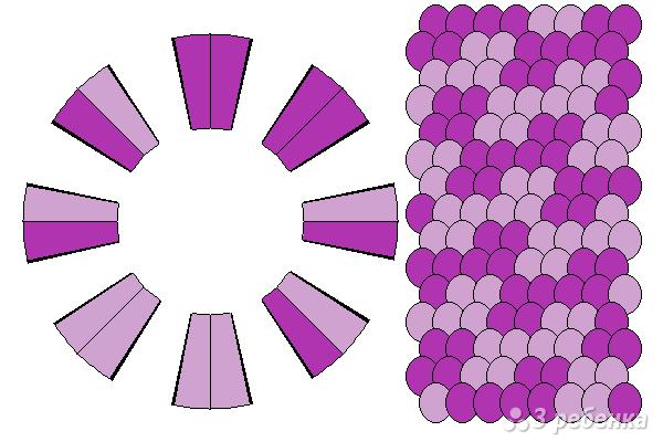 Схема фенечки кумихимо 15162