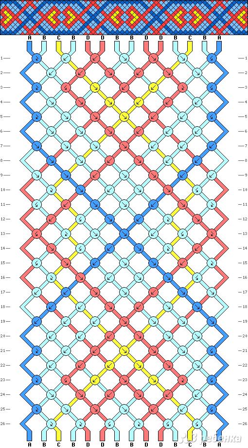 Схема фенечки 13536
