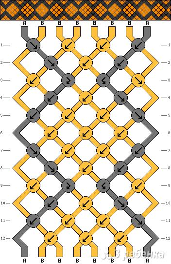 Схема фенечки 13488