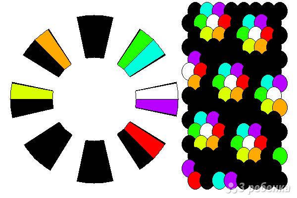 Схема фенечки кумихимо 15270