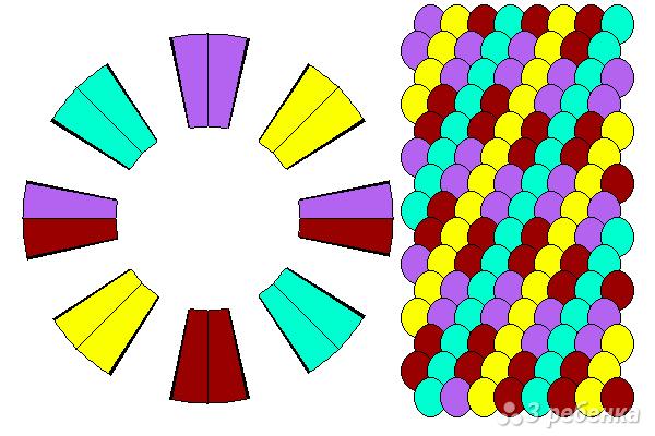 Схема фенечки кумихимо 15370