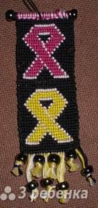 Схема фенечки прямым плетением 14339