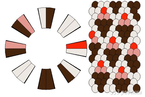 Схема фенечки кумихимо 15363