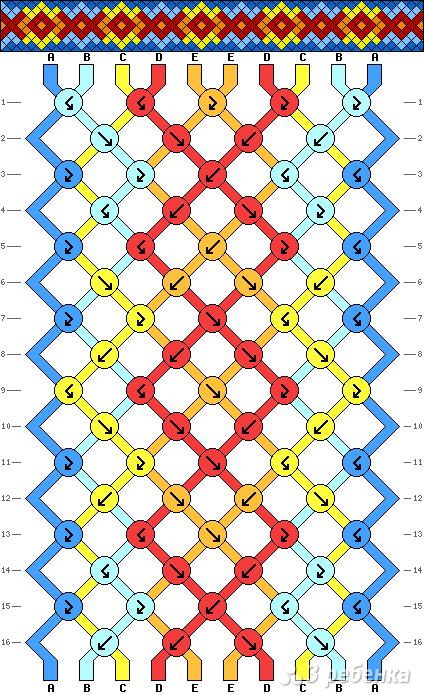 Схема фенечки 13581