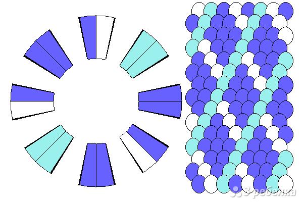 Схема фенечки кумихимо 15359