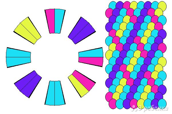 Схема фенечки кумихимо 15355