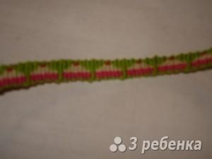 Схема фенечки прямым плетением 14586