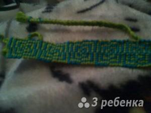 Схема фенечки прямым плетением 14295