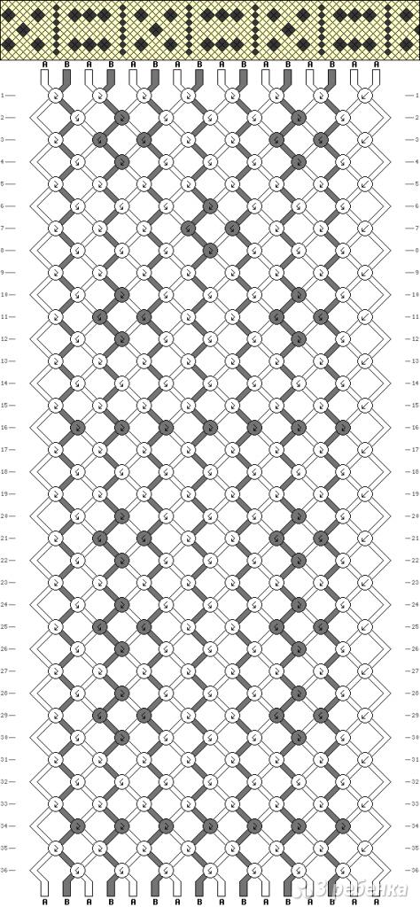 Схема фенечки 13643