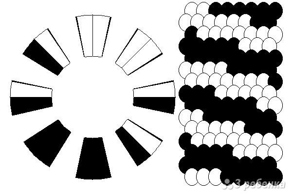 Схема фенечки кумихимо 15196