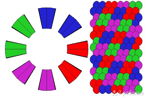 Схема фенечки кумихимо 15266
