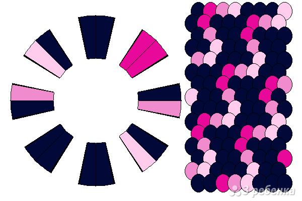 Схема фенечки кумихимо 15351