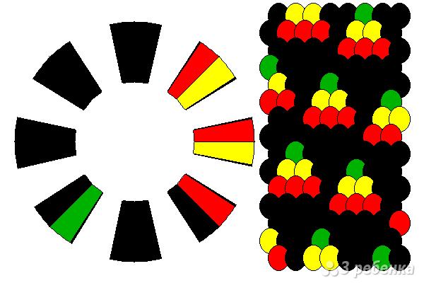 Схема фенечки кумихимо 15294