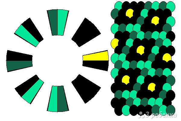 Схема фенечки кумихимо 15343