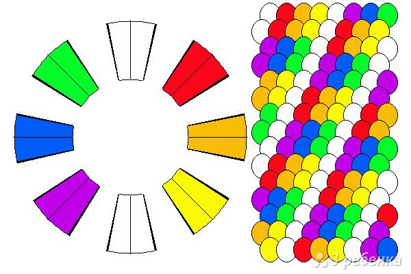 Схема фенечки кумихимо 15338