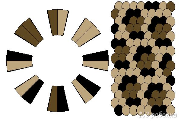 Схема фенечки кумихимо 15248