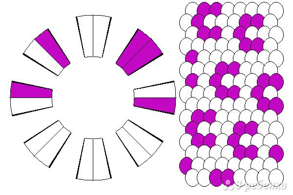 Схема фенечки кумихимо 15427
