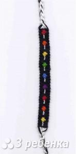 Схема фенечки прямым плетением 14580
